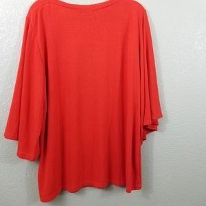 NWOT Amaryllis Orange Bell Sleeve Sweater Top